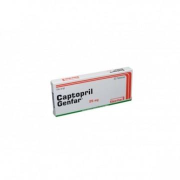CAPTOPRIL GENFAR 25 MG X 30...