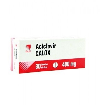 ACICLOVIR 400 MG CALOX X...