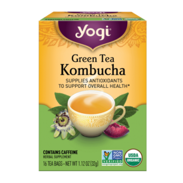 YOGI GREEN TEA KOMBUCHA X 16