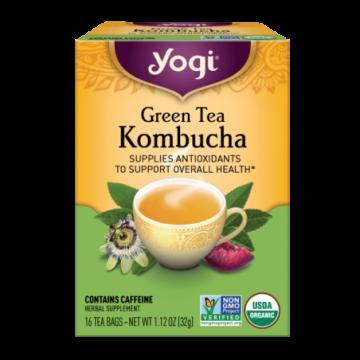 YOGI GREEN TEA KOMBUCHA X 16