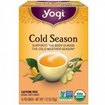 YOGI TEA COLD SEASON 16 X 16
